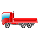 Red truck vector image