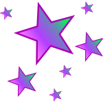 Prismatic purple stars