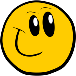 Vector graphics of a smiling yellow emoticon