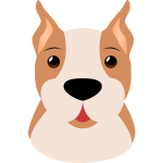 Cartoon image of dog's head
