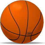 Basketball sport playing ball vector clip art