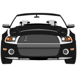 Vector image of sport car