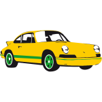Vector image of Porche car