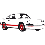 Vector illustration of Porsche car