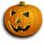 Orange pumpkin lantern with shadow vector image