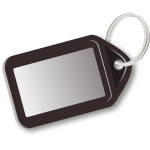 Vector image of brown key tag