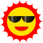 Cool Sun vector image