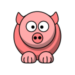 Pig cartoon style