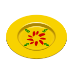 Yellow dish vector image