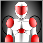 red and grey robot avatar vector illustration