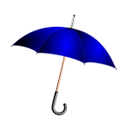 Vector illustration of blue umbrella