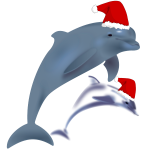 Christmas dolphins