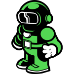 Green spaceman