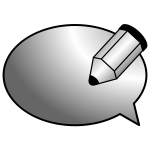 Vector graphics of comments icon for web