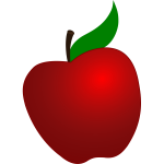 Vector graphics of tilted apple