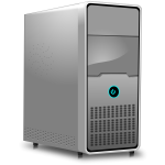 Vector clip art of computer unit