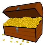 Overflowing treasure chest