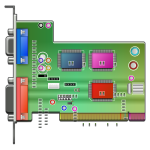 Vector graphics of an audio card