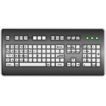 Vector graphics of Italian layout computer keyboard