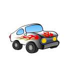 Cartoon sporty car vector drawing
