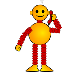 Robot smiling vector clip art