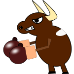 Fighting cow vector graphics