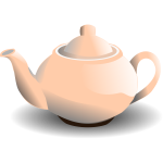 Vector graphics of shiny pink tea pot