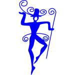 Vane dancer silhouette vector image
