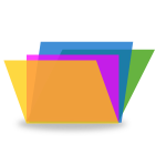 Vector image of colorful computer folder icon