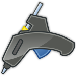 Vector image of glue gun with shadow
