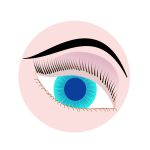 Blue eye illustration
