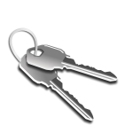 Two keys on a keychain vector graphics