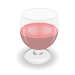 Red wine glass in vector graphics