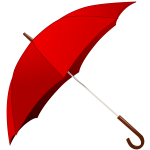 Open red umbrella vector image