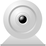 Vector drawing of desktop PC webcam