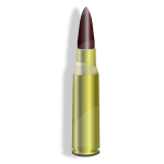 Vector graphics of bullet