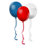 Vector clip art of Independence Day balloons