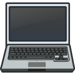 White netbook vector image