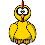 Yellow chick clip art