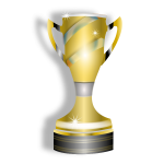 Vector clip art of trophy