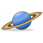 Vector clip art of planet Saturn icon