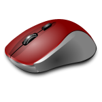 Vector clip art of red computer mouse
