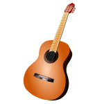 Classic guitar vector image