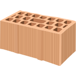 Image of multi holes pale orange brick