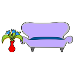 Sofa cartoon drawing