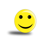 Happy smiley with shadow vector drawing