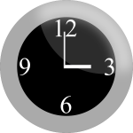 Vector clip art of modern clock