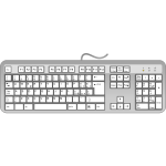 Italian keyboard vector image