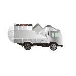 Vector drawing of garbage truck