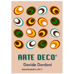 Vector illustration of art deco eggs poster